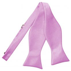 Lilac Plain Satin Self-Tie Bow Tie