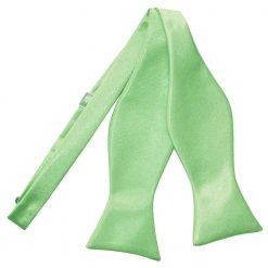 Lime Green Plain Satin Self-Tie Bow Tie