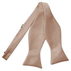 Mocha Brown Plain Satin Self-Tie Bow Tie