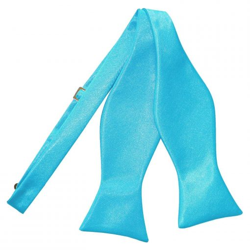 Robin's Egg Blue Plain Satin Self-Tie Bow Tie