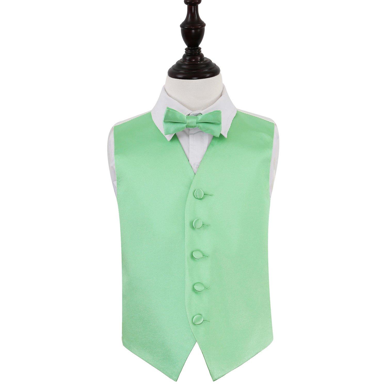 DQT Satin Plain Solid Mint Green Formal Wedding Mens Skinny Tie