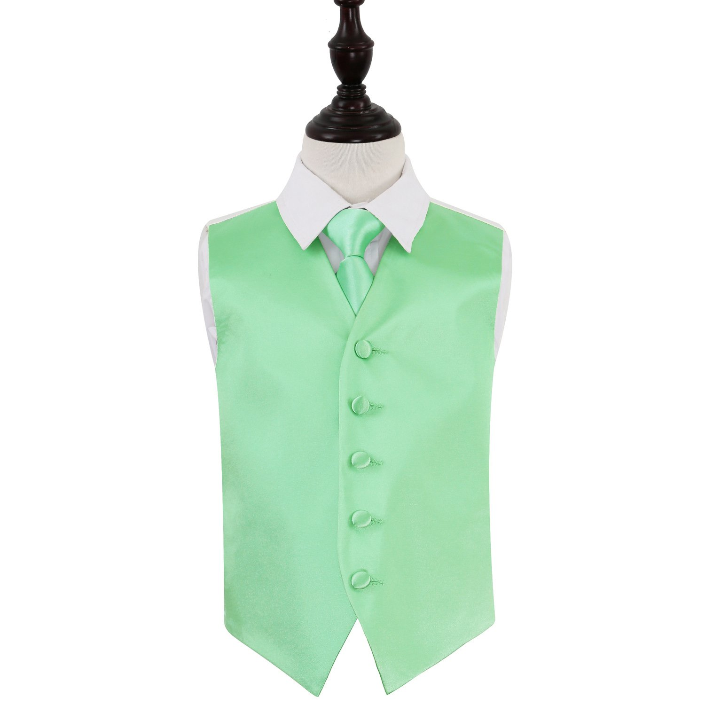 DQT Satin Plain Solid Teal Formal Wedding Pre-Tied Boys Cravat