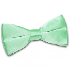 Mint Green Plain Satin Pre-Tied Bow Tie