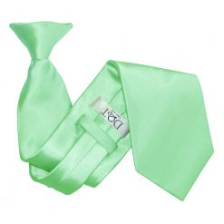 Mint Green Plain Satin Clip On Tie