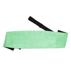 Mint Green Plain Satin Cummerbund