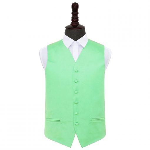 Mint Green Plain Satin Wedding Waistcoat