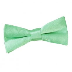 Mint Green Plain Satin Pre-Tied Bow Tie for Boys