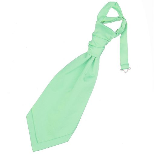 Mint Green Plain Satin Pre-Tied Wedding Cravat for Boys