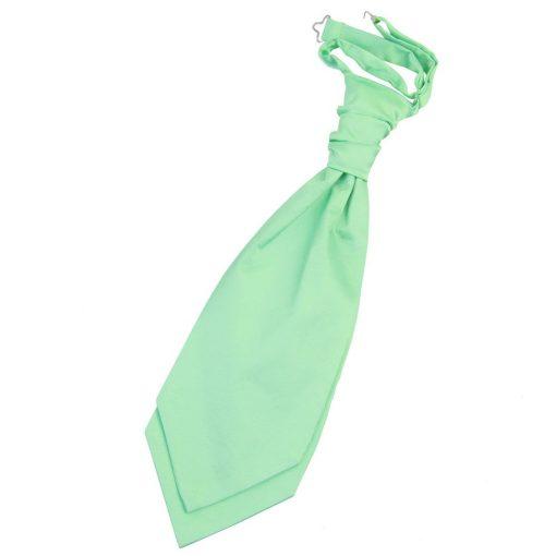 Mint Green Plain Satin Pre-Tied Wedding Cravat
