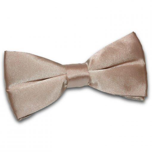 Mocha Brown Plain Satin Pre-Tied Bow Tie