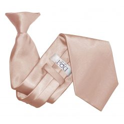Mocha Brown Plain Satin Clip On Tie