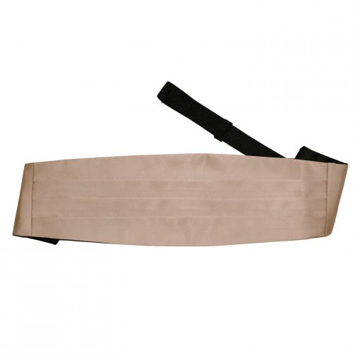 Mocha Brown Plain Satin Cummerbund