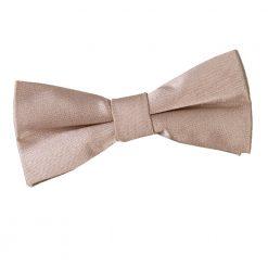 Mocha Brown Plain Satin Pre-Tied Bow Tie for Boys