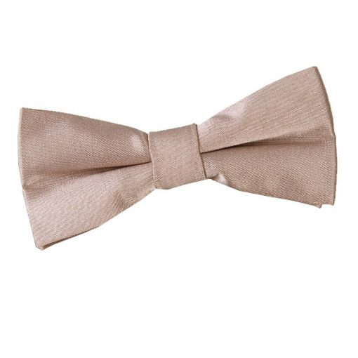 Mocha Brown Plain Satin Pre-Tied Bow Tie for Boys