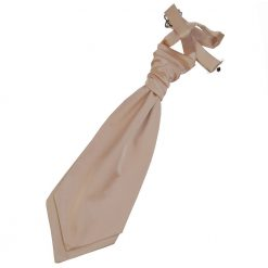 Mocha Brown Plain Satin Pre-Tied Wedding Cravat for Boys