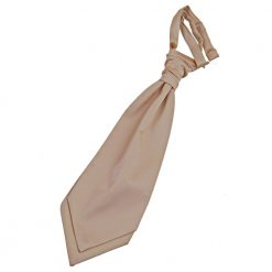 Mocha Brown Plain Satin Pre-Tied Wedding Cravat