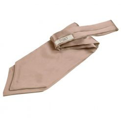 Mocha Brown Plain Satin Self-Tie Wedding Cravat
