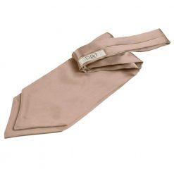 Mocha Brown Plain Satin Self-Tie Wedding Cravat