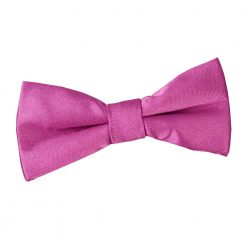 Mulberry Plain Satin Pre-Tied Bow Tie for Boys