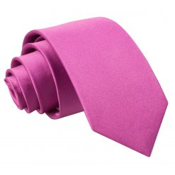 Mulberry Plain Satin Regular Tie for Boys