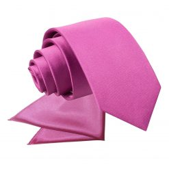 Mulberry Plain Satin Tie & Pocket Square Set for Boys