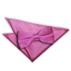 Mulberry Plain Satin Bow Tie & Pocket Square Set