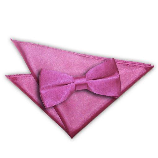 Mulberry Plain Satin Bow Tie & Pocket Square Set