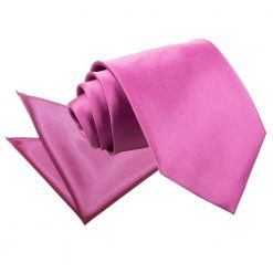 Mulberry Plain Satin Tie & Pocket Square Set