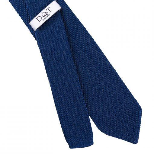 Navy Blue Knitted Slim Tie