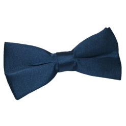 Navy Blue Plain Satin Pre-Tied Bow Tie