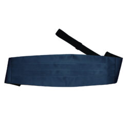 Navy Blue Plain Satin Cummerbund