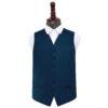 Navy Blue Plain Satin Wedding Waistcoat