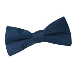Navy Blue Plain Satin Pre-Tied Bow Tie for Boys