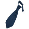 Navy Blue Plain Satin Pre-Tied Wedding Cravat for Boys