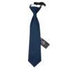 Navy Blue Plain Satin Elasticated Tie for Boys