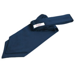 Navy Blue Plain Satin Self-Tie Wedding Cravat