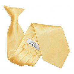Pale Yellow Plain Satin Clip On Tie