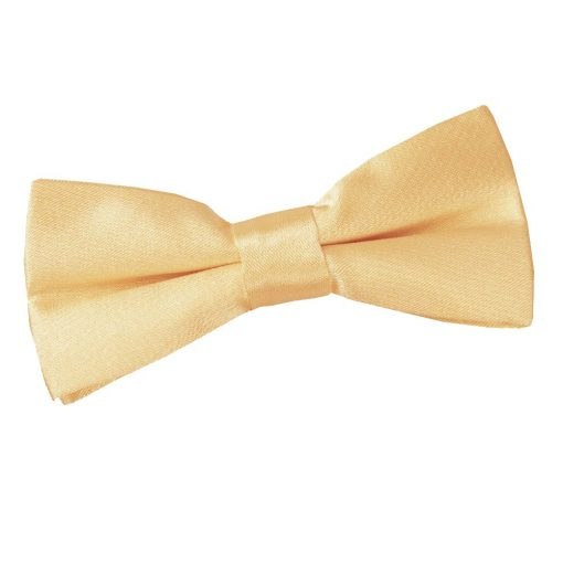 Pale Yellow Plain Satin Pre-Tied Bow Tie for Boys