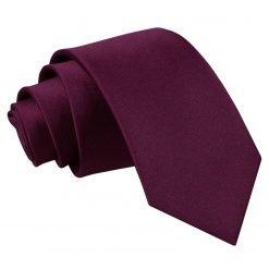 Plum Plain Satin Regular Tie for Boys