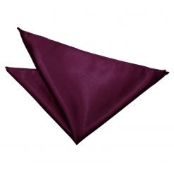 Plum Plain Satin Pocket Square