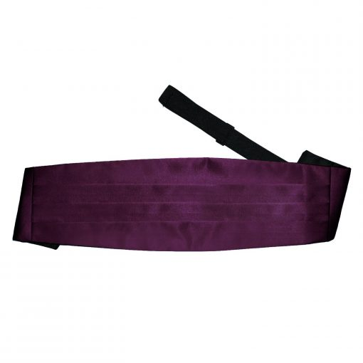 Plum Plain Satin Cummerbund