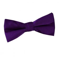 Purple Plain Satin Pre-Tied Bow Tie for Boys
