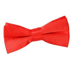 Red Plain Satin Pre-Tied Bow Tie for Boys