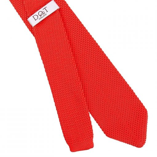 Red Knitted Slim Tie