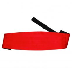 Red Plain Satin Cummerbund