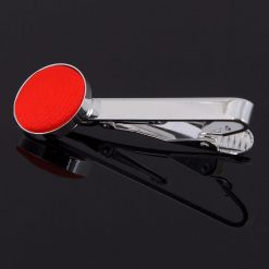 Red Plain Tie Clip