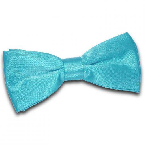 Robin's Egg Blue Plain Satin Pre-Tied Bow Tie