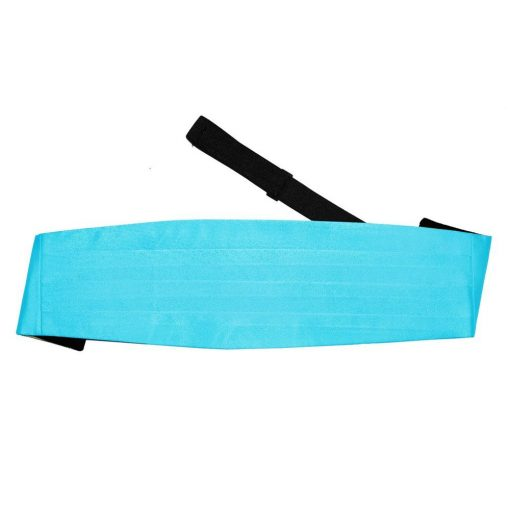 Robin's Egg Blue Plain Satin Cummerbund