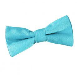 Robin's Egg Blue Plain Satin Pre-Tied Bow Tie for Boys