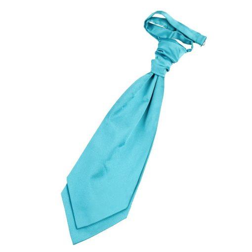 Robin's Egg Blue Plain Satin Pre-Tied Wedding Cravat
